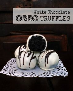 Even simple Oreo cookies can be turned into decadent truffles with a fine white chocolate shell.