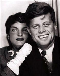 Jackie Kennedy and John F. Kennedy