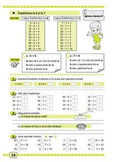 Clasa a II-a : Matematică și explorarea mediului. Clasa a II-a. Partea II - (E1) Monster School, Math 2, Homeschooling, Periodic Table, Kindergarten, David, Printables, Memes, School