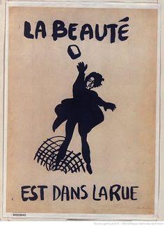 [Mai 1968]. La Beauté est dans la rue, [Montpellier] : [affiche] / [non identifié]