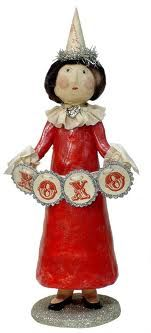 LOVE this Lady in Red... {vintage paper mache}