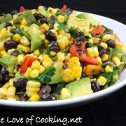 Grilled Corn Poblano, and Black Bean Salad