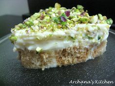 Aish Al Saraya ~ seriously, this sweet is heavenly!  (I would use bread squares for the base as they soak up the rosewater = yum)