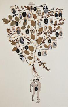 """Maïssa TOULET, série """"arbres généalogiques""""                                                                                                                                                     Plus"""