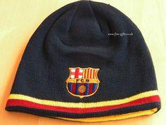 Beanies - FC Barcelona Reversible Beanie Hats - Football Club Knit Beanie for Team Fans #FineGifts #BeanieHatsFootballClubFCBarcelona