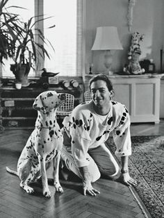 """iheartnorwegianwood: """" wornjournal: """" Marc Jacobs inspired by his Dalmatian, circa *** Who, what, why, where and WORN. """" Oh Marc… """" Marc Jacobs, Another Love, W Magazine, Design Tattoo, Princes Diana, Phoebe Philo, Design Poster, Vintage Dog, Naomi Campbell"""