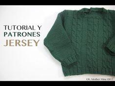 Tutorial y patrones jersey verde ochos - YouTube