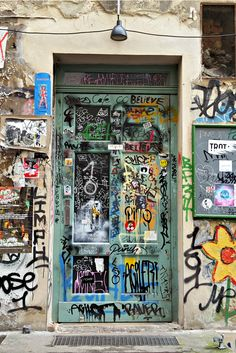 The street art at Hackescher Markt - Berlin, Germany.