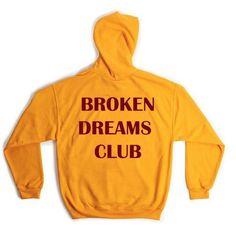 23a45f880b2 Harajuku BROKEN DREAM CLUB Hooded Sweatshirt Autumn Winter Women Men Unisex  Hoodie Black Yellow Autumn Winter
