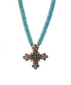 Look at this F.A.I.T.H. Turquoise Cross Pendant Necklace on #zulily today!