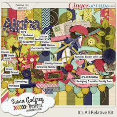 It's All Relative, available at: http://store.gingerscraps.net/It-s-All-Relative-Kit-by-Susan-Godfrey.html