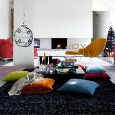 Get floor cushions ideas and inspiration for your home at different places. Gallery of Floor cushions, floor cushion seating, floor seating ideas living room and floor seating cushions ikea. Bean Bag Living Room, Living Room Pillows, Living Room Decor, Floor Seating Cushions, Floor Pillows, Sofa Throw, Sofa Pillows, Sitting Pillows, Sofa Colors