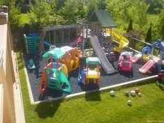 Savannah Outdoor Play Kids Area (Savannah Outdoor Play Kids Area) design ideas and photos Kids Backyard Playground, Playground Design, Backyard For Kids, Backyard Ideas, Kids Outdoor Play Equipment, Outdoor Play Areas, Outdoor Games, Childrens Play Area Garden, Kids Play Area