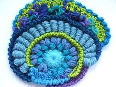 Freeform crochet, russian video.{great tutorial using a latch hook needle to crochet the bullion stitches}