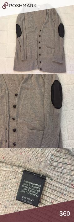 Qi elbow patch cashmere cardigan. Beautiful 100% cashmere Qi cardigan with elbow patches & leather like buttons. Excellent condition. Qi Sweaters Cardigans
