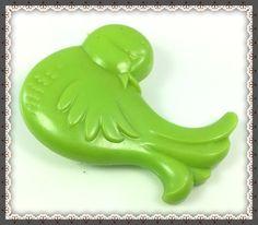 VTG (G1) MY LITTLE PONY ❤︎ GREEN BIRD BRUSH ❤︎ FLOATER RARE PEGASUS KAWAII 80s…