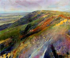 Lorna Holdcroft ~ Recent Paintings: Sussex Weald II - Acrylic on Canvas 120 x 100cm