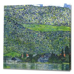 Litzberg on the Attersee Painting Print on Wrapped Canvas