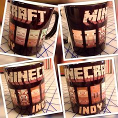 Personalized Minecraft coffee mug merchandise