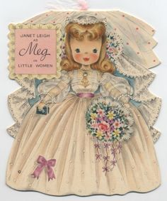 Hallmark Doll Card - Janet Leigh as Meg, Little Women