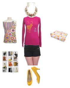 """""""Bright and Charming"""" by modcloth ❤ liked on Polyvore featuring INDIE HAIR, Brady, Retrò, animal, cute, pink and bunny"""