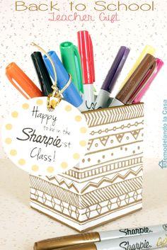 Tribal Designs Teacher Gift with Sharpie