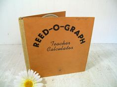 Vintage Reed-O-Graph Teacher Calculator 1940s Round Slide Rule for Grading Students - Circular Teachers Aid for Test Scores Averaging Grades