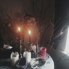 I need a little table for my candles and stuff. Or they need to go somewhere.