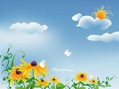Lovely Spring - Blissful Spring Scene Vector Illustration    - Spring Scene  Vector Illustraiton Wallpaper 18