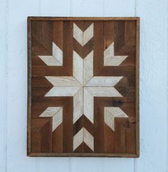 Reclaimed Wood Wall Art, Wood Wall Decor, Diamonds, Star, Natural Wood Color, Rustic Art, Geometric Art, Mosaic Art by PastReclaimed on Etsy