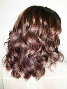 The Brunette Version of Rose Gold Is Ridiculously Pretty! Chocolate mauve is the new hair trend that allows you to go rose gold without dyeing your dark hair blonde. It uses the brown hues in your already dark hair mixed with iridescent pink tones to create a natural, balayage effect.