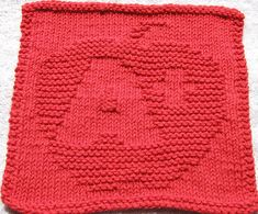 A+Teach Knit Dishcloth Pattern