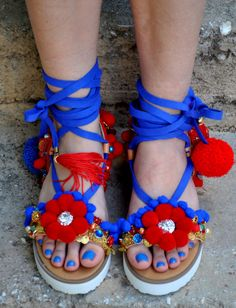 Gladiator Sandals/Leather sandals/ platform by magosisters on Etsy