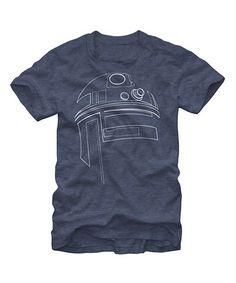Look at this #zulilyfind! Navy Star Wars Minimalist R2-D2 Tee - Men by Star Wars #zulilyfinds