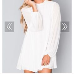 Show me your mumu high neck dress in wht NWT ❌no trades or holds please! Cheaper on MMERC Show Me Your MuMu Dresses Mini