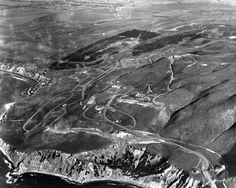 (1925)^ - Aerial view of Palos Verdes.  Most of the land on the peninsula and beyond is yet to be developed.