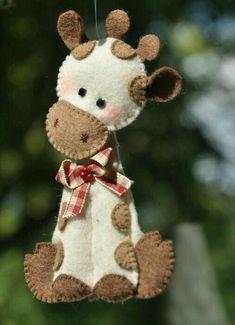 Felt giraffe ornaments