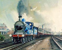 Fine Art Prints of Railway Scenes & Train Portraits - Caledonian Railway No. 90 by Brian Lancaster