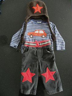Mini Boden Baby Boy Vehicle Star Cords Outfit Set Custom OOAK 12 18 Months | eBay