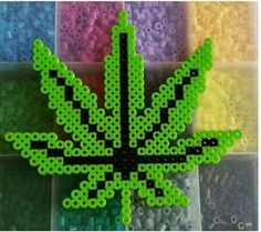 Marihuana Perler Beads