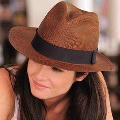 Panamá legítimo feminino ...marrom Chapeu Cowboy bfeff7bfefe