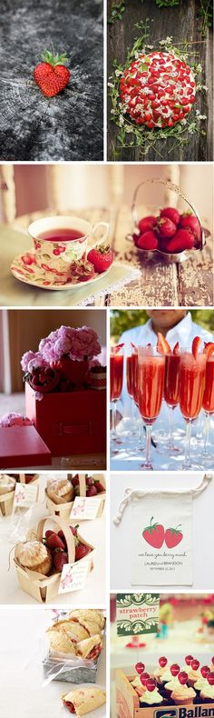 Strawberry Weddings | themarriedapp.com hearted <3