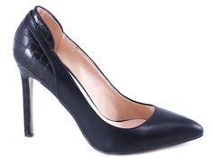 Pantofi Stiletto - Pantofi negri stiletto QJ305-18N - Zibra