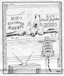 free the far side comics online - AT Yahoo! Far Side Cartoons, Far Side Comics, Funny Cartoons, Funny Jokes, Hilarious, Old Memes, Dankest Memes, The Far Side Gallery, Catsu The Cat