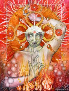 """Elements Fire:  """"Materia Fire,"""" by Patricia Ariel."""