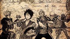 Eustass Kid Trafalgal Law Luffy Zoro Killer Bepo One Piece Anime Wallpaper HD 1920×1080