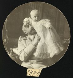 """""""Photograph of Grand Duke Constantine Constantinovich with his youngest son Prince George Constantinovich Grand Duke Constantine is sitting in an armchair. Baby Prince, Young Prince, Prince And Princess, Rare Pictures, Rare Photos, Prince Igor, Victoria Reign, Queen Victoria, Peter And Paul Cathedral"""