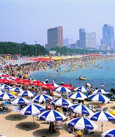 Haeundae Beach, Jung-dong, Busan ~ South Korea