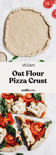 #ad This Oat Pizza Crust is the perfect base for all of your favorite pizza toppings! It's made with whole grain @Quaker oats and whole wheat flour for a pizza crust . The possibilities are endless when you cook with oats!
