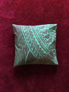 Samoan print cushions